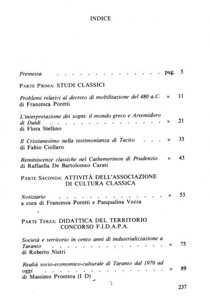 Galaesus XIII indice 1
