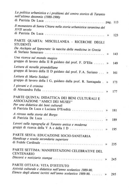 Galaesus XIV indice 2