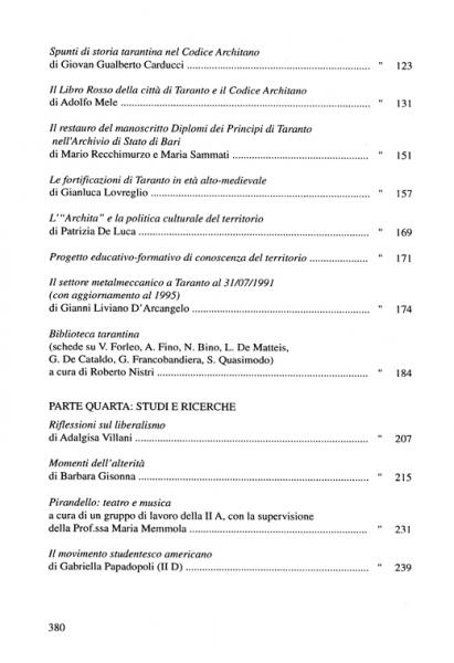 Galaesus XIX indice 2