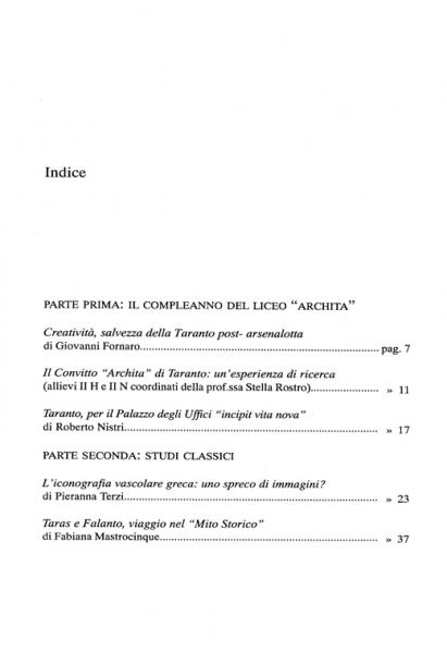 Galaesus XXVII indice 1
