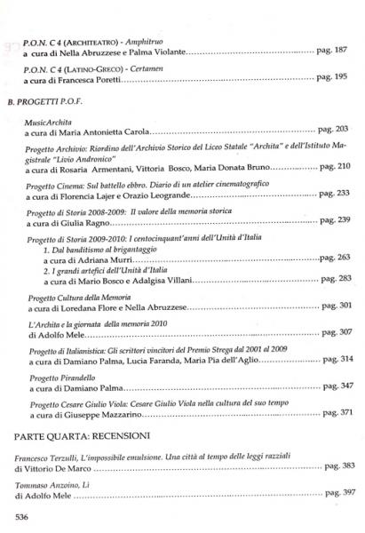 Galaesus XXXIII indice 2